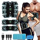 Electroestimulador Muscular Abdominales, EMS Estimulación USB Recargable ABS Trainer para...