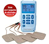 Premier Plus EM6300P Electroestimulador Digital Masaje EMS TENS, Pantalla LCD, 2 Canales,...