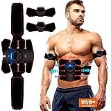 ROOTOK Electroestimulador Muscular Abdominales,Masajeador Eléctrico Cinturón con USB,...