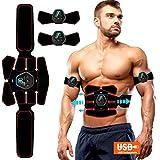 ROOTOK Electroestimulador Muscular Abdominales, Masajeador Eléctrico Cinturón con USB,...